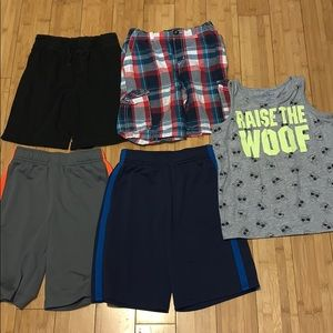 Boys size 7x lot of 5 summer items